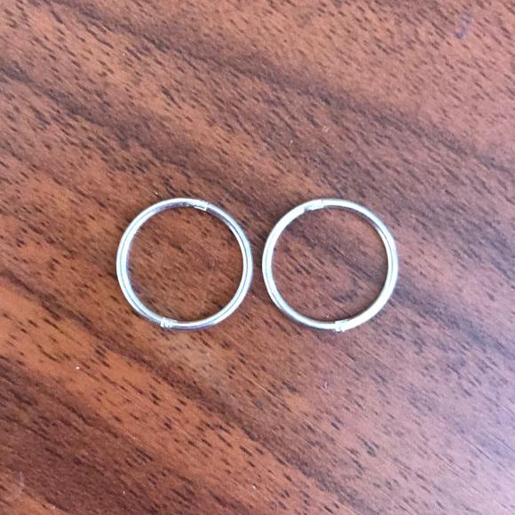 3006f62e489305 14 mm hinged hoop earrings .925 sterling silver. M_5ab2860cc9fcdf09cb7efa05
